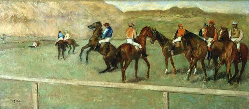 Before the Start 1878 | Edgar Degas | Oil Painting