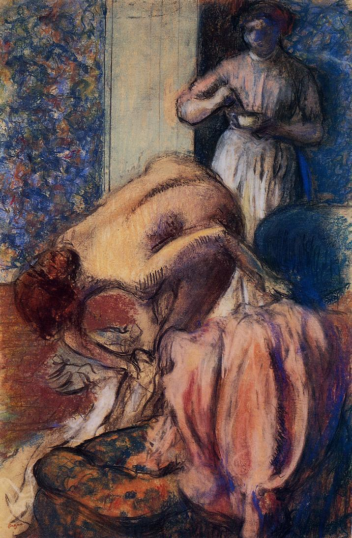 Breakfast after Bathing (aka The Cup of Coffee) 1894 | Edgar Degas | Oil Painting