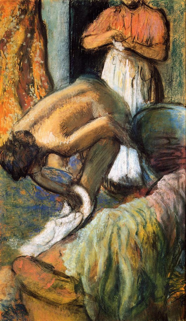Breakfast after the Bath 1894 | Edgar Degas | Oil Painting
