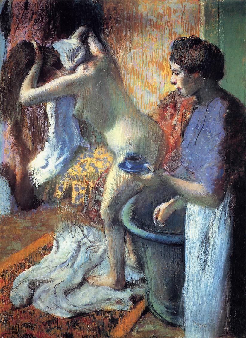 Breakfast after the Bath 1895 | Edgar Degas | Oil Painting