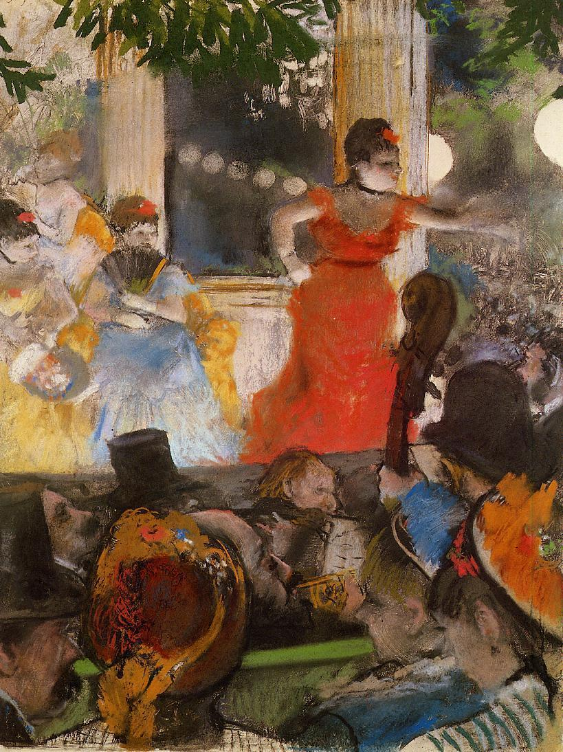 Cafe Concert At Les Ambassadeurs 1876-1877 | Edgar Degas | Oil Painting