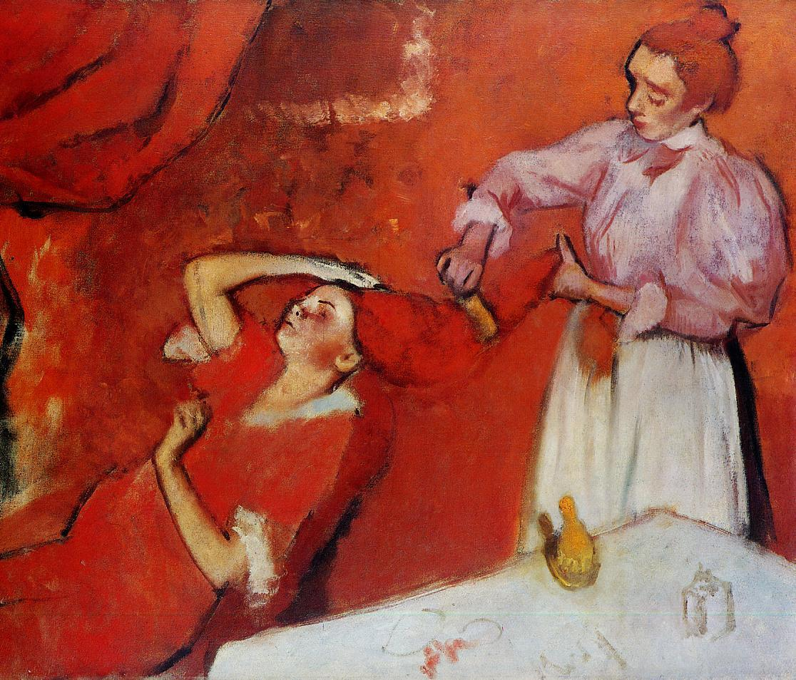 Combing the Hair 1892-1895 | Edgar Degas | Oil Painting