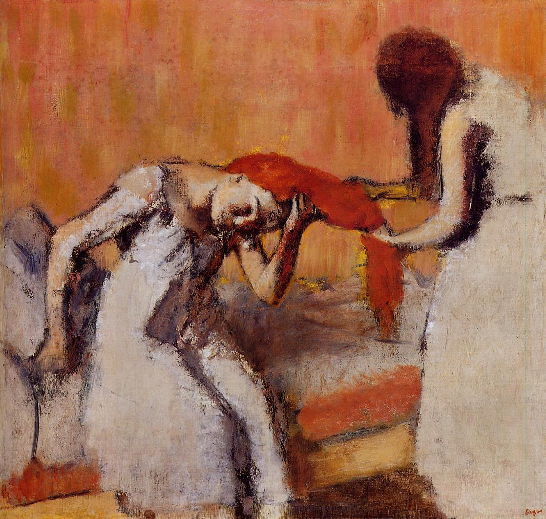 Combing the Hair 1896-1900 | Edgar Degas | Oil Painting