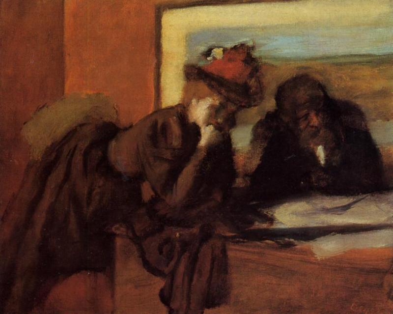 Conversation 1895 | Edgar Degas | Oil Painting