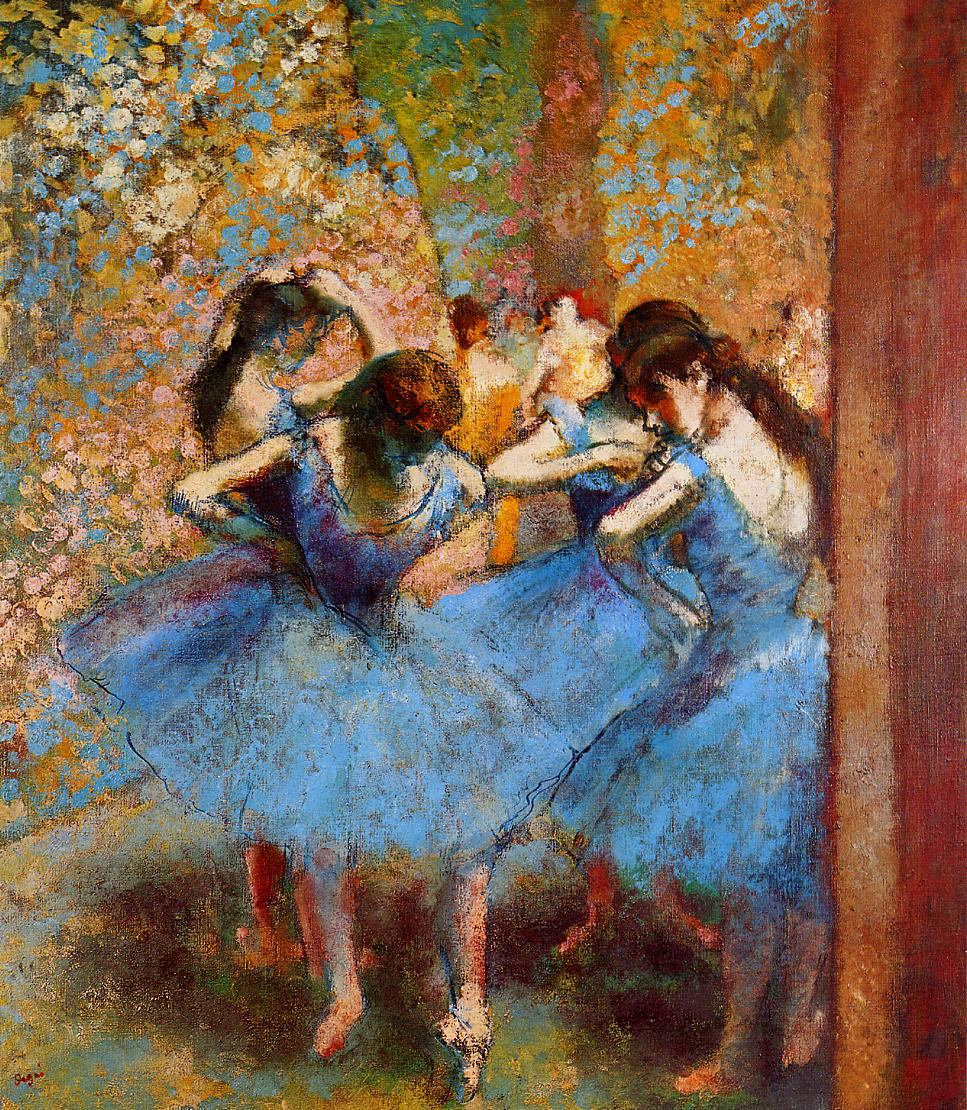 Dancers in Blue 1895 | Edgar Degas | Oil Painting