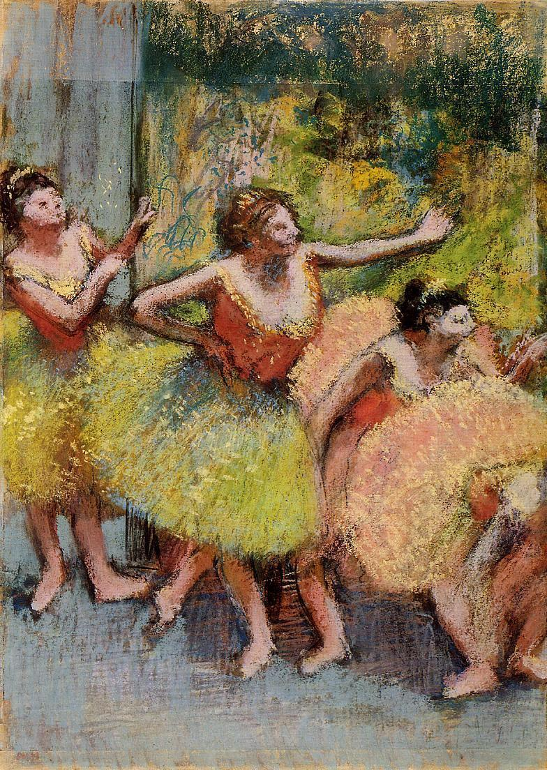 Dancers in Green and Yellow 1899-1904 | Edgar Degas | Oil Painting