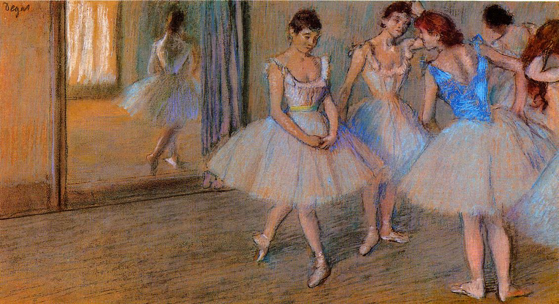 Dancers in the Studio 1884 | Edgar Degas | Oil Painting