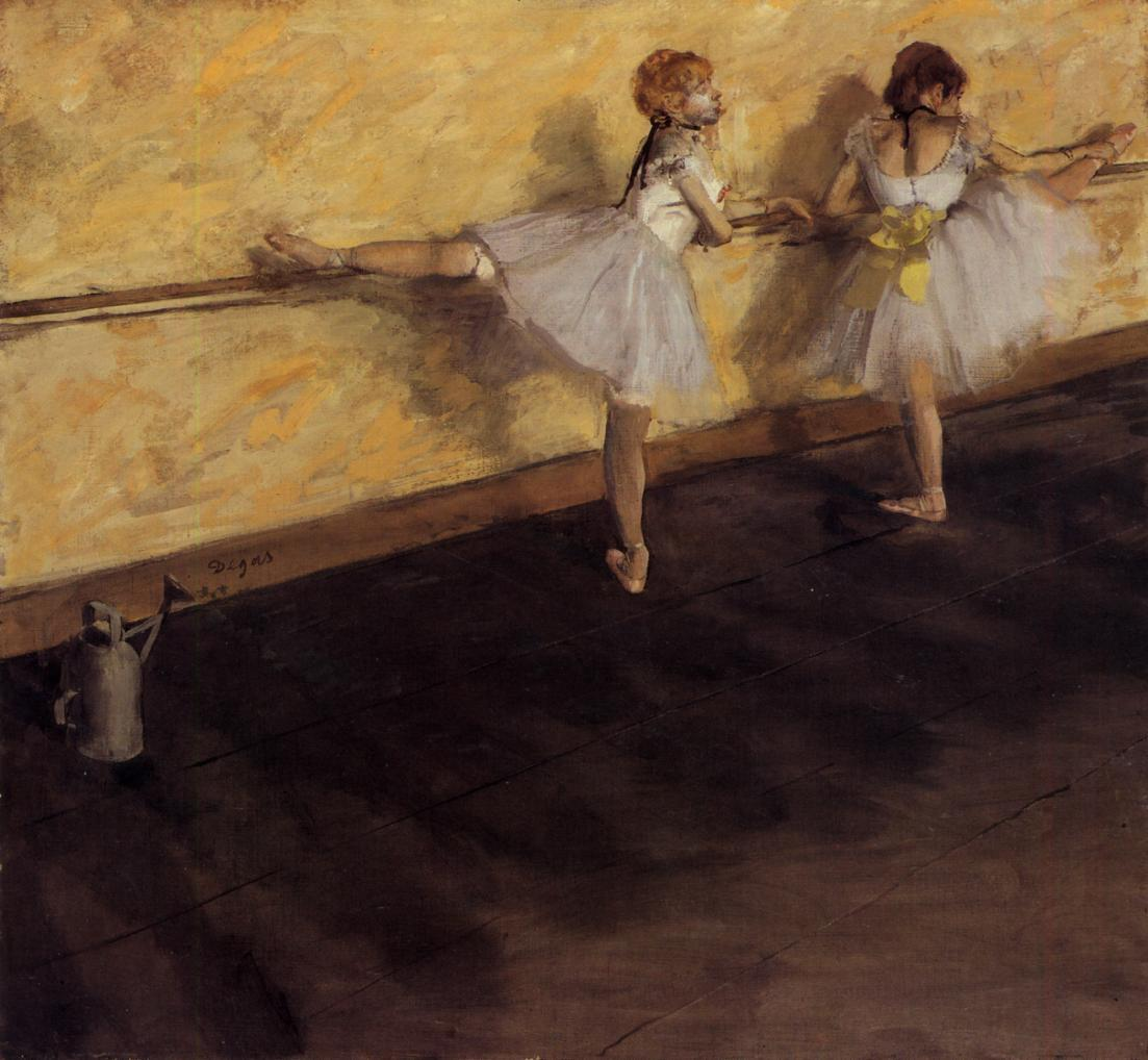 Dancers Practicing at the Barre 1876-1877 | Edgar Degas | Oil Painting