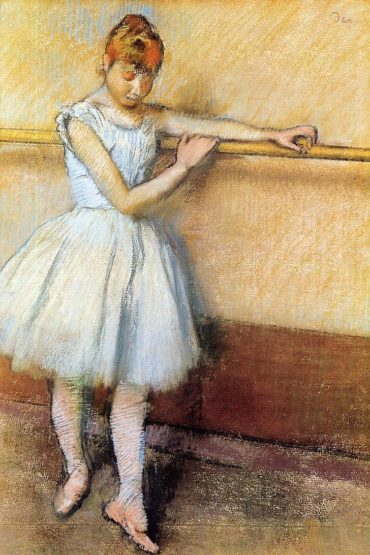 Dancer at the Barre 1880 | Edgar Degas | Oil Painting