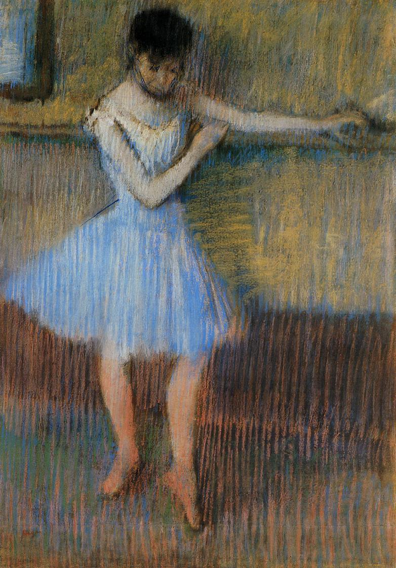 Dancer in Blue at the Barre 1889 | Edgar Degas | Oil Painting
