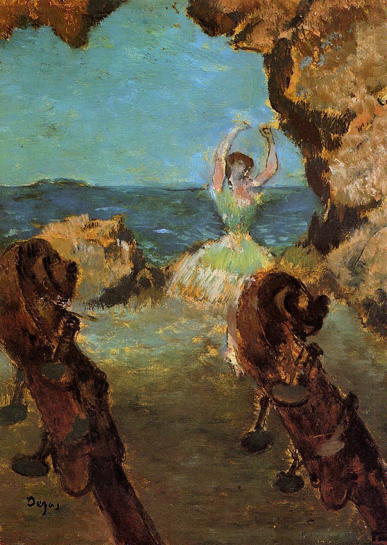 Dancer on Stage 1890 | Edgar Degas | Oil Painting