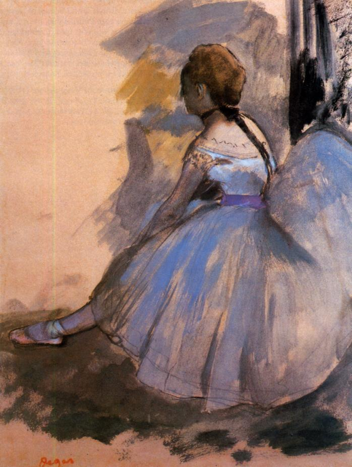 Dancer Seated (study) 1872 | Edgar Degas | Oil Painting
