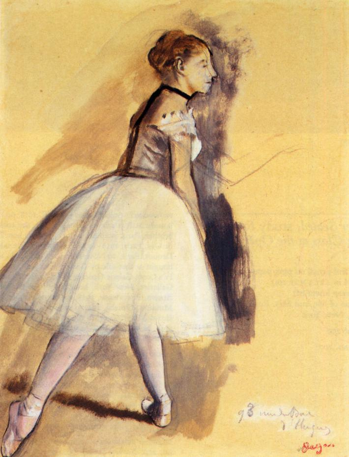 Dancer Standing (study) 1872 | Edgar Degas | Oil Painting