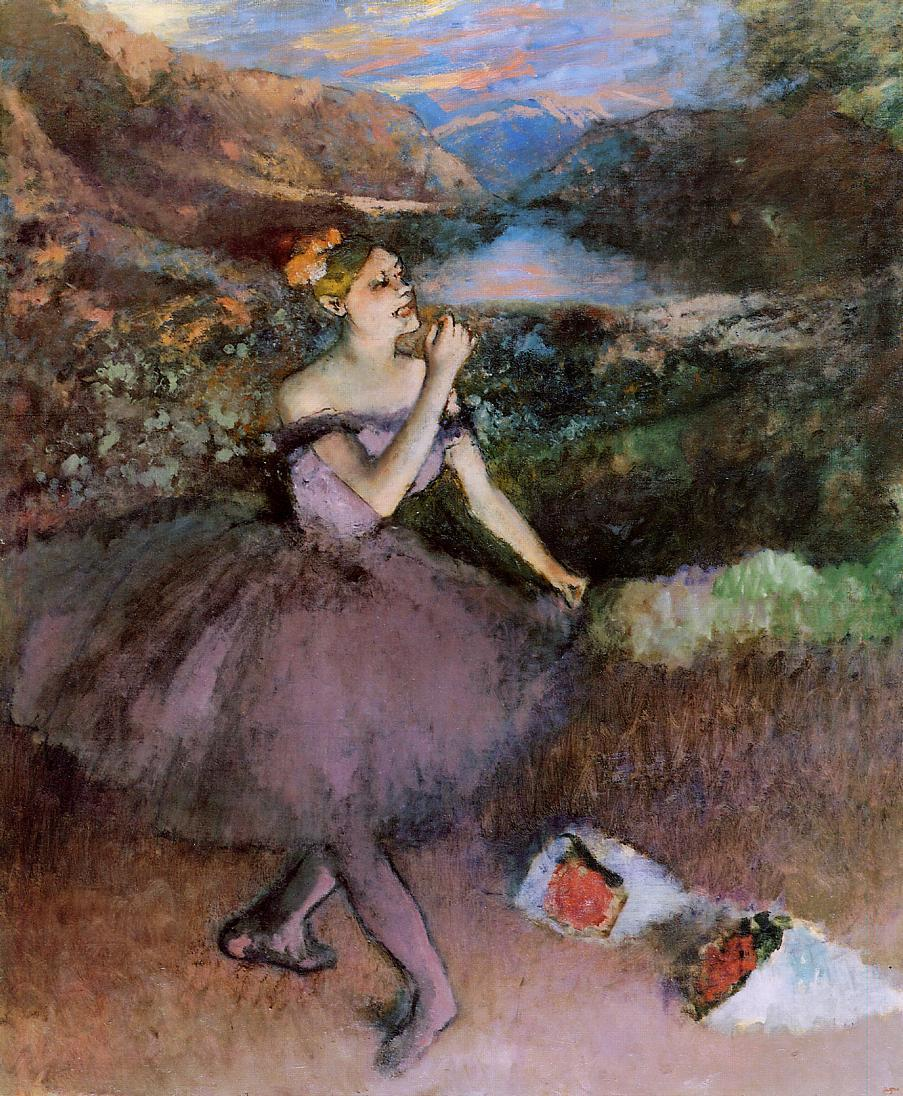 Dancer with Bouquets 1890-1895 | Edgar Degas | Oil Painting