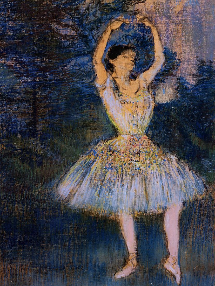 Dancer with Raised Arms 1891 | Edgar Degas | Oil Painting
