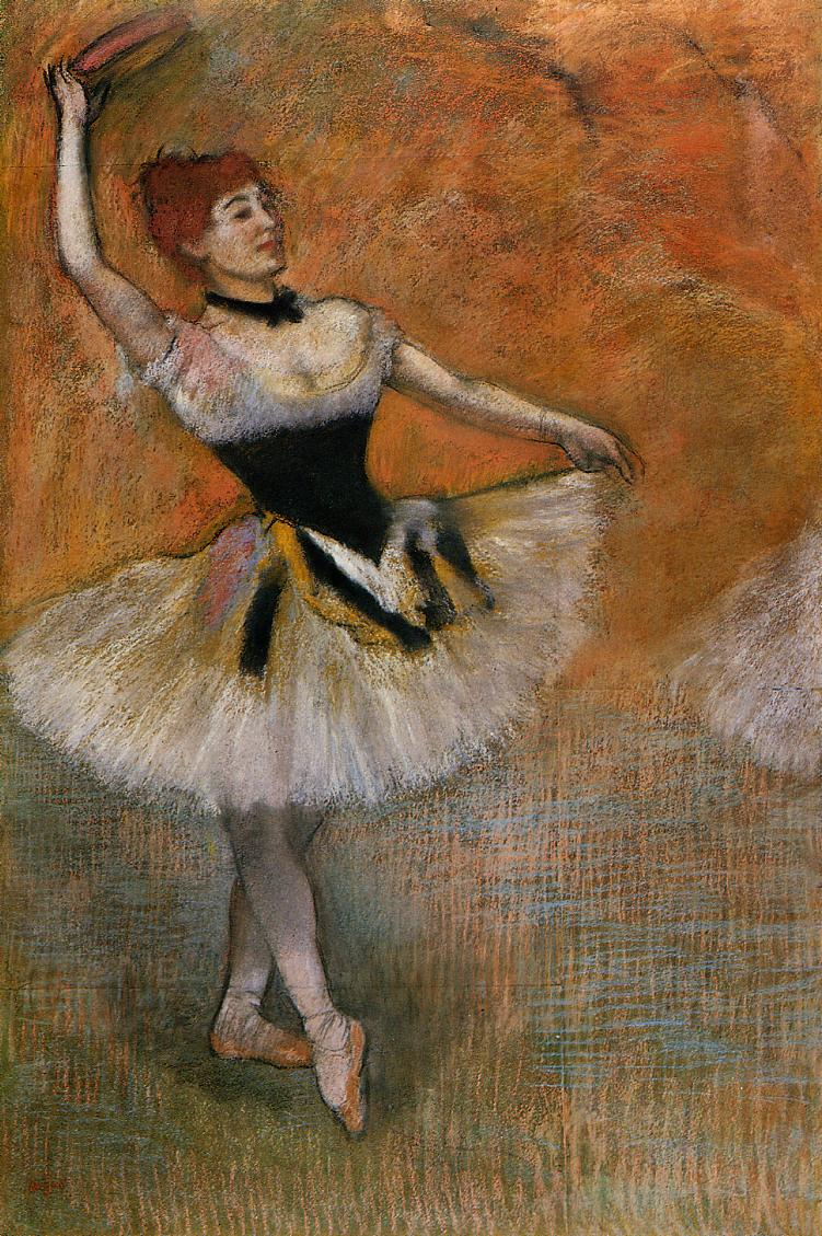 Dancer with Tambourine 1882 | Edgar Degas | Oil Painting