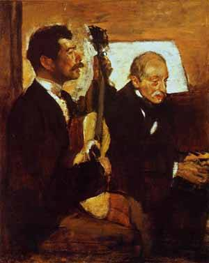 Degas Father Listening to Lorenzo Pagans 1869-1870 | Edgar Degas | Oil Painting
