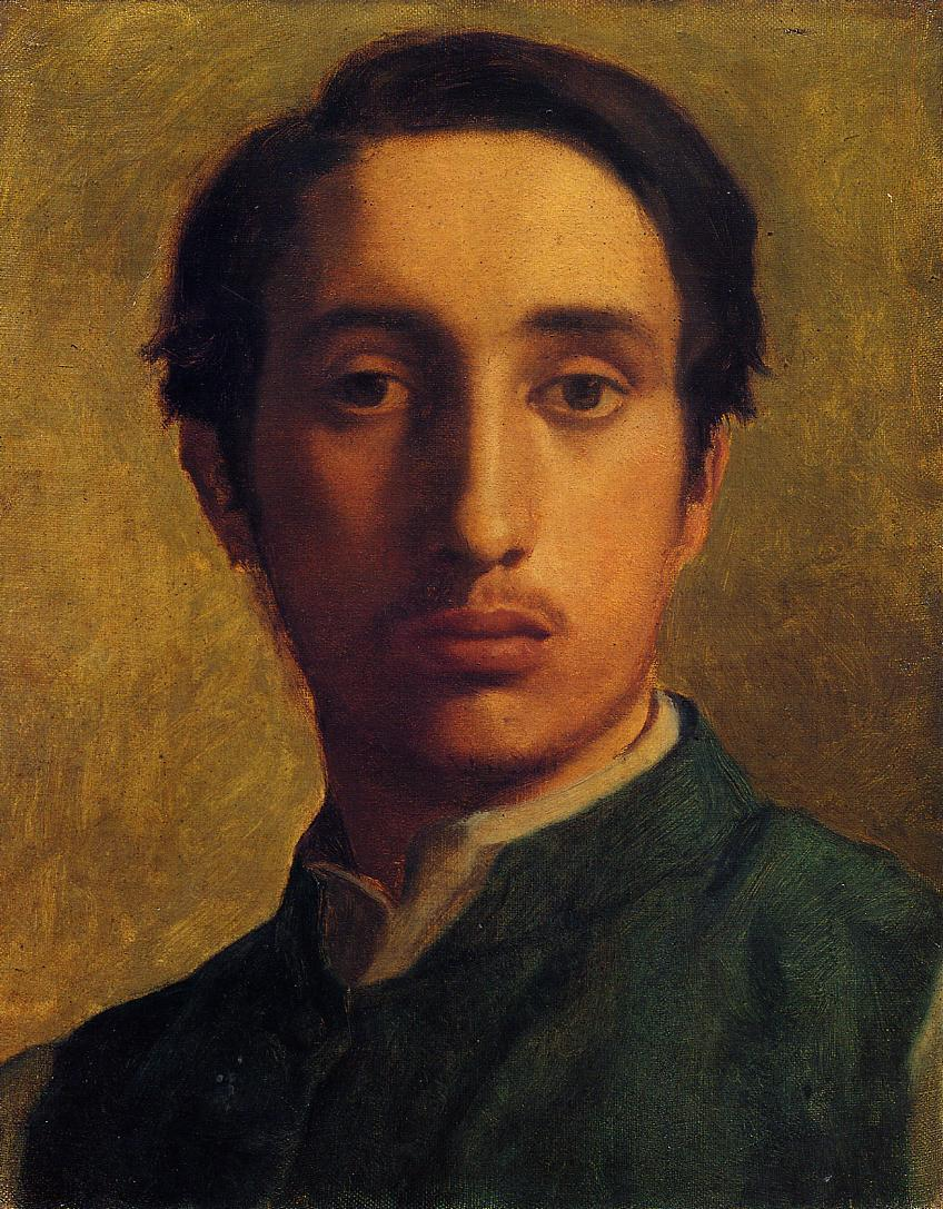 Degas in a Green Jacket 1855-1856 | Edgar Degas | Oil Painting