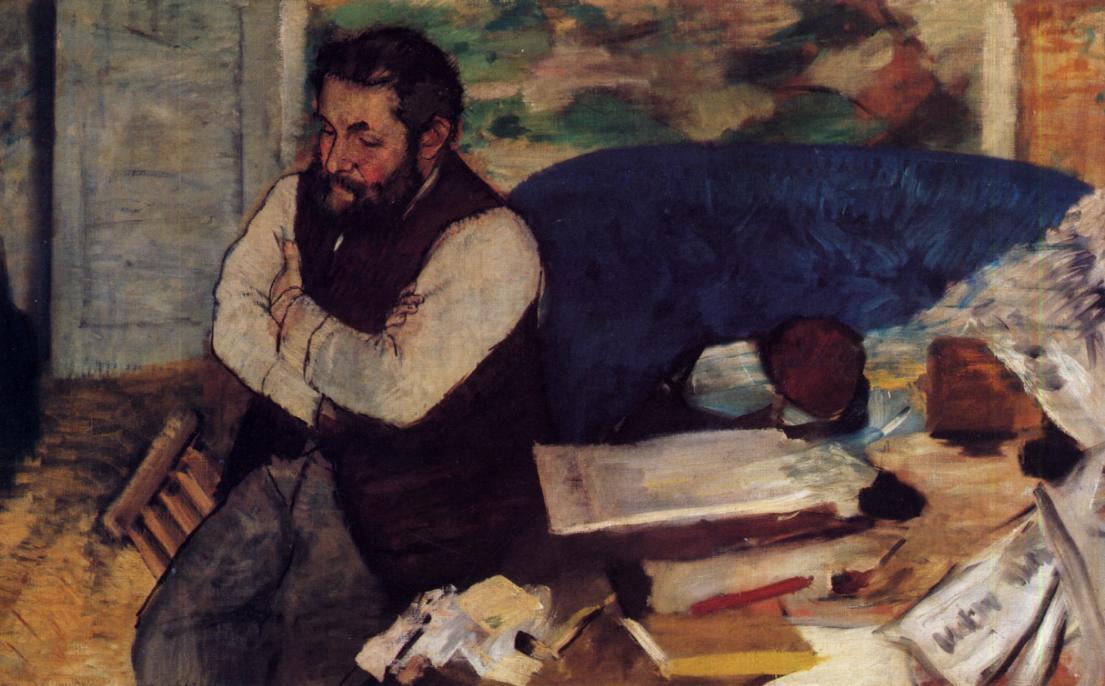 Diego Martelli2 1879 | Edgar Degas | Oil Painting