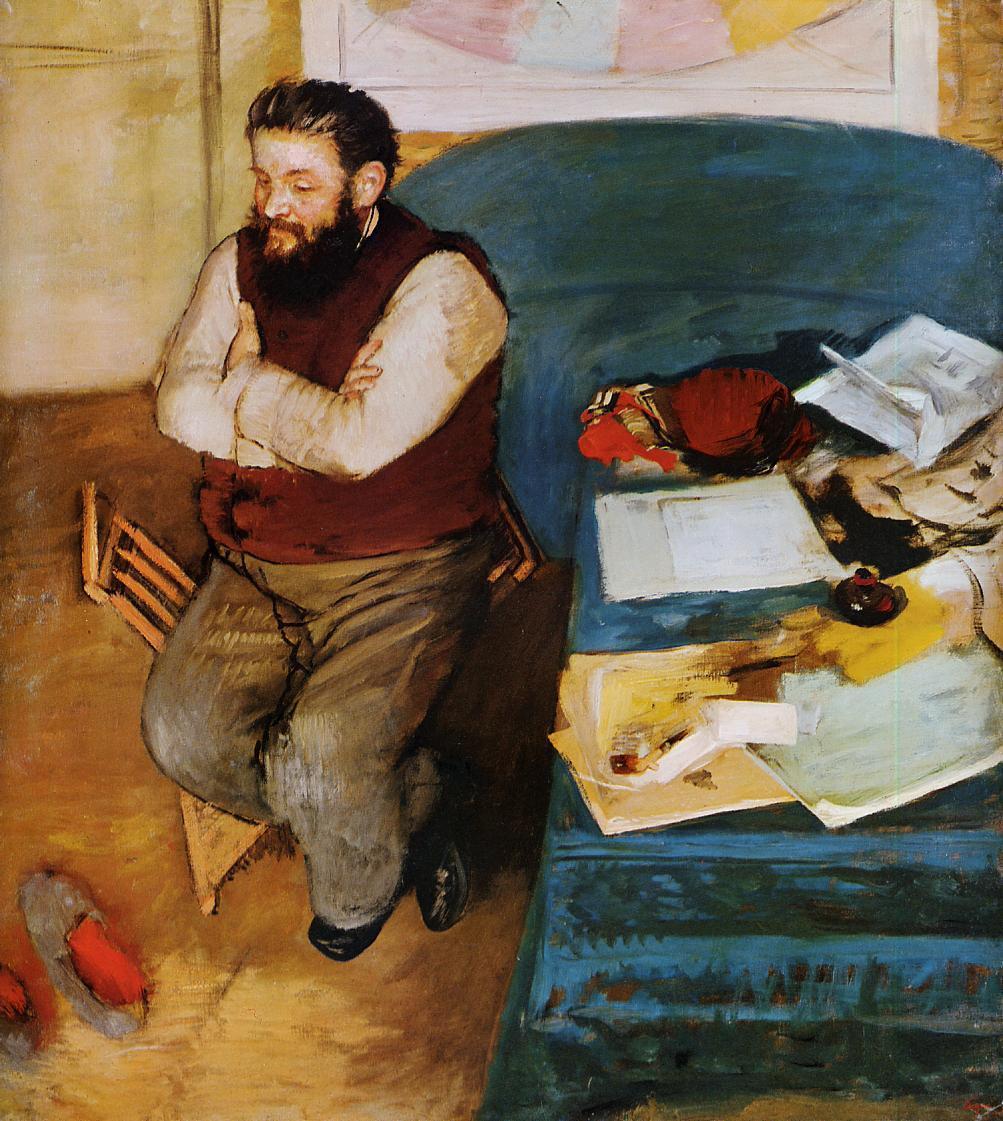 Diego Martelli 1879 | Edgar Degas | Oil Painting