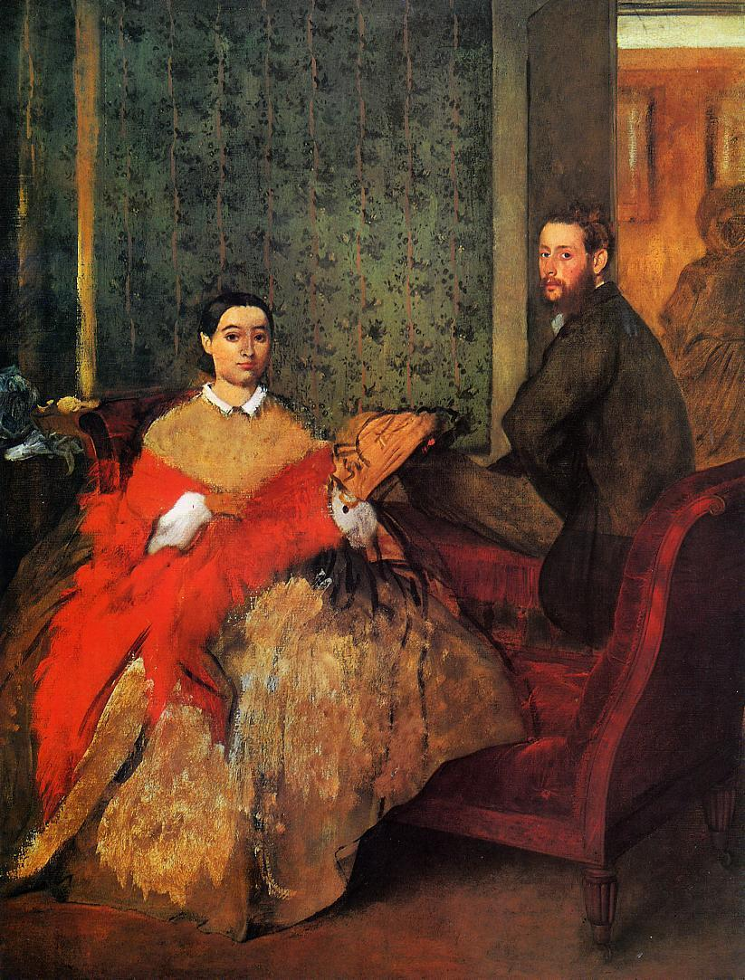 Edmondo and Therese Morbilli 1865-1866 | Edgar Degas | Oil Painting