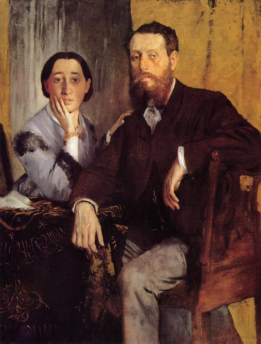 Edmond and Therese Morbilli 1867 | Edgar Degas | Oil Painting