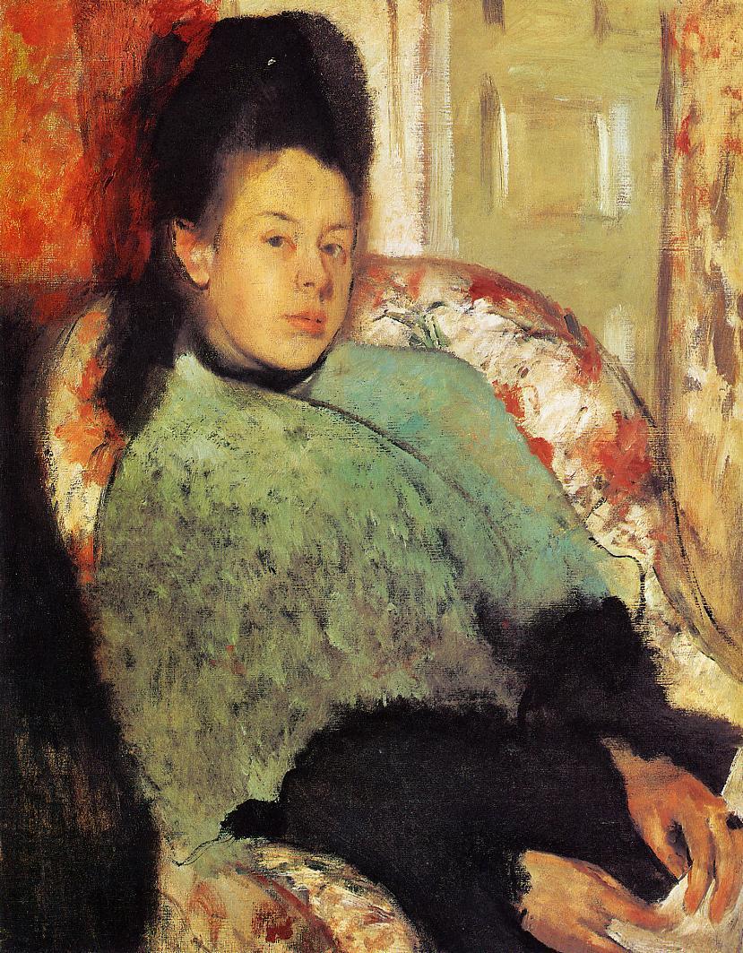 Elena Carafa 1873-1874 | Edgar Degas | Oil Painting
