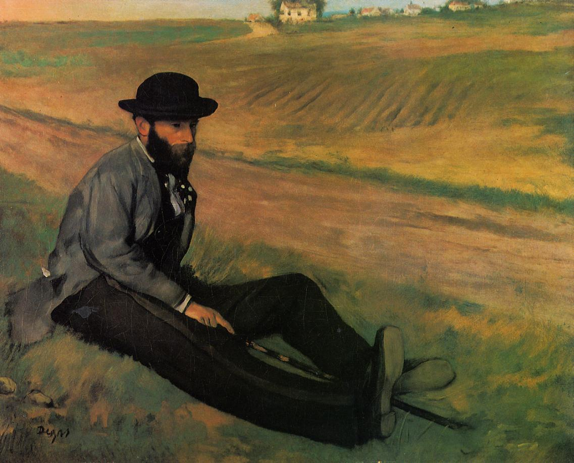 Eugene Manet 1874 | Edgar Degas | Oil Painting