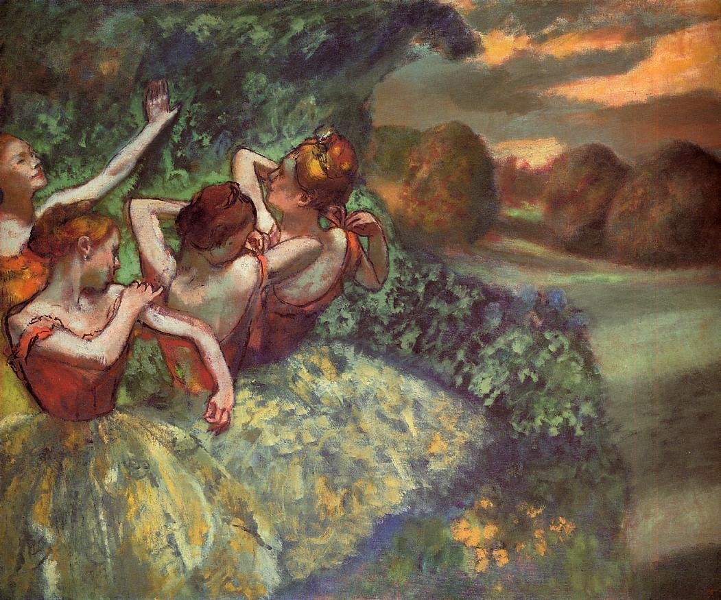 Four Dancers 1899 | Edgar Degas | Oil Painting