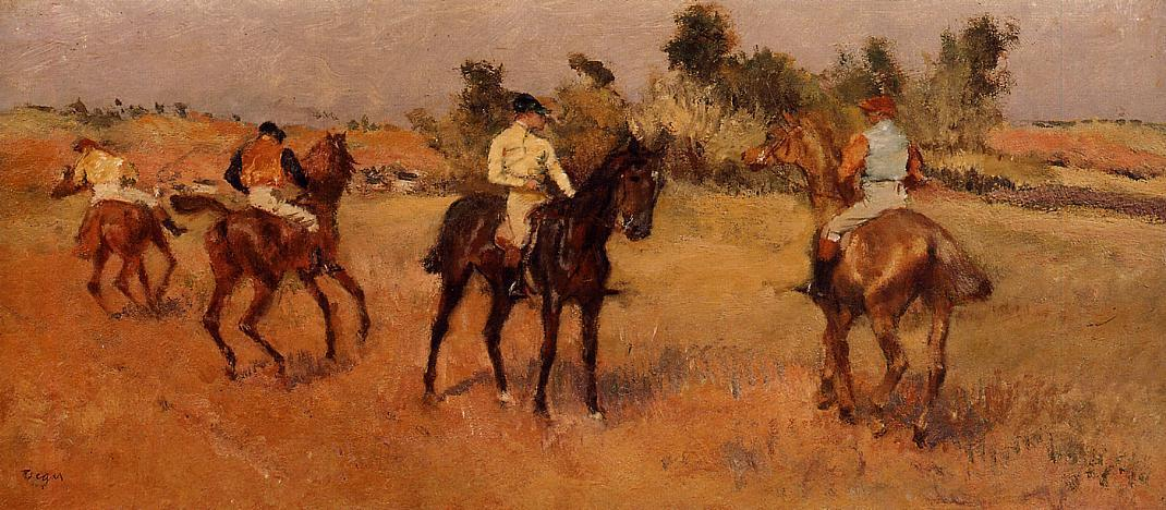 Four Jockeys 1886-1888 | Edgar Degas | Oil Painting
