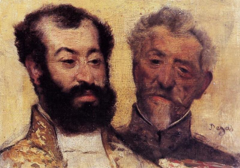General Mellinet and Chief Rabbi Astruc 1871 | Edgar Degas | Oil Painting