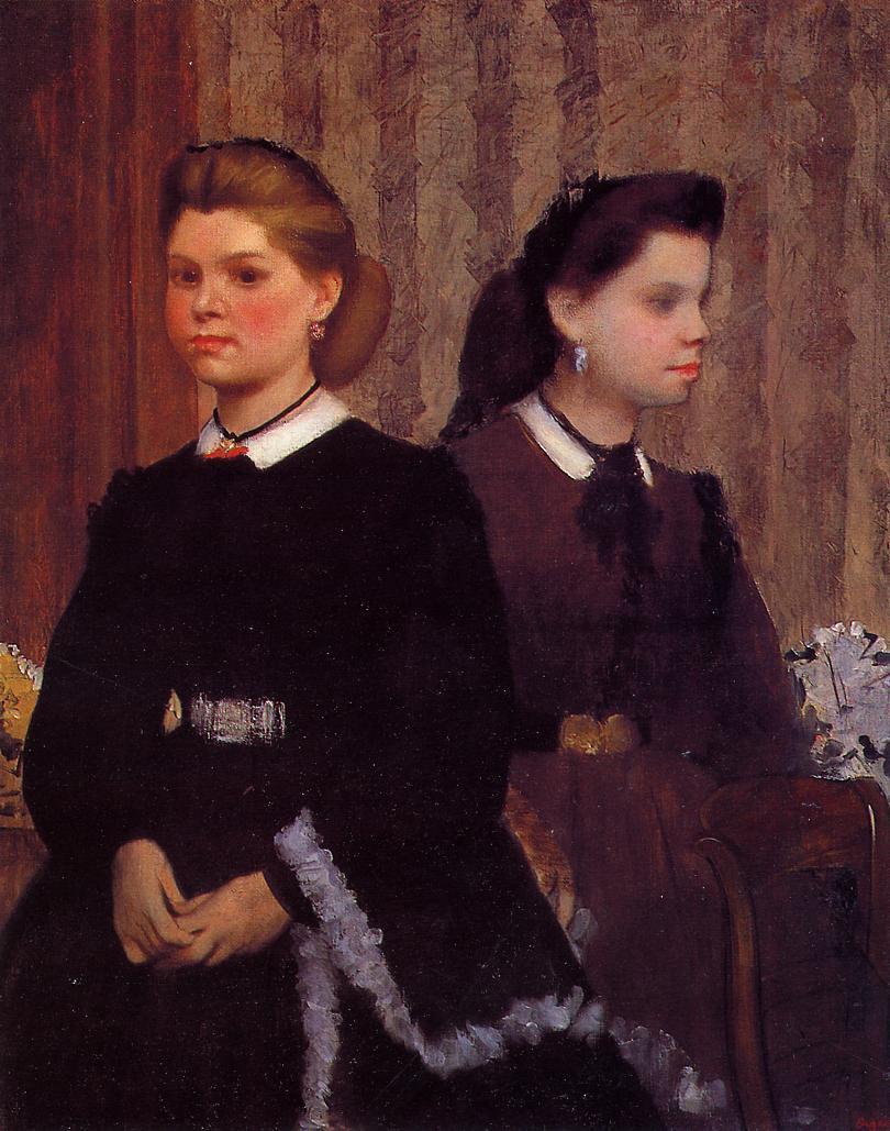 Giovanna and Giulia Bellelli 1865-1866 | Edgar Degas | Oil Painting