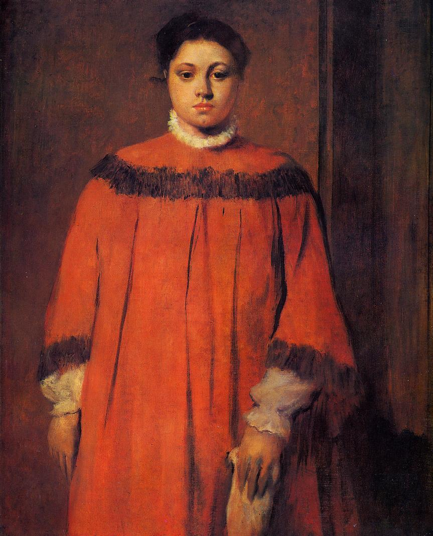 Girl in Red 1873-1876 | Edgar Degas | Oil Painting