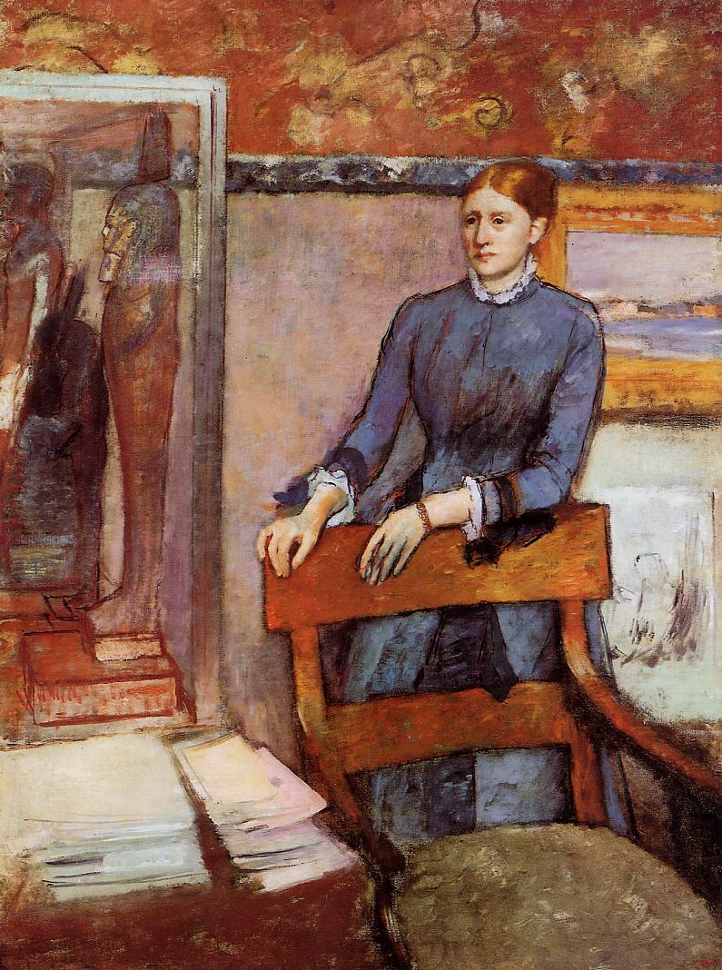 Helene Rouart in Her Fathers Study 1886-1895 | Edgar Degas | Oil Painting