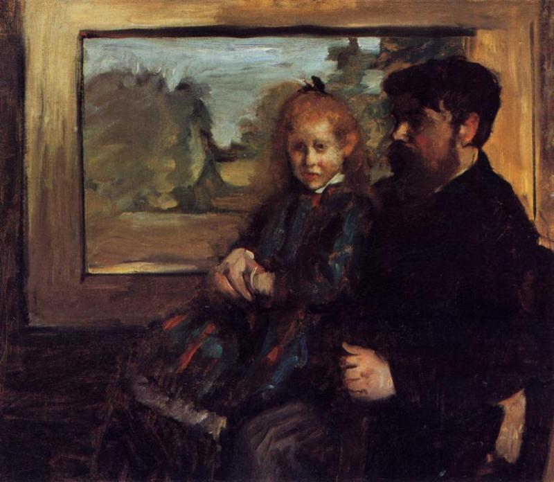 Henri Rouart and His Daughter Helene 1871-1872 | Edgar Degas | Oil Painting