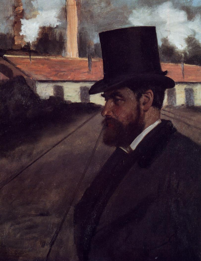 Henri Rouart in front of His Factory 1875 | Edgar Degas | Oil Painting