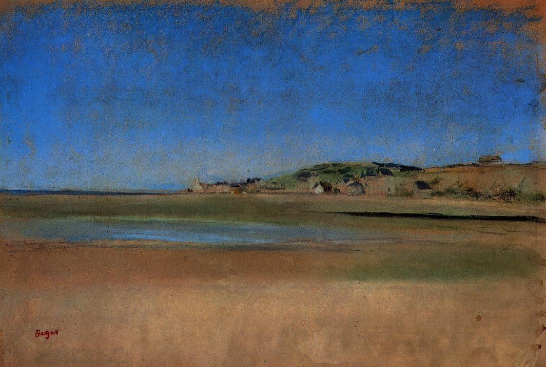 Houses by the Seaside 1869 | Edgar Degas | Oil Painting