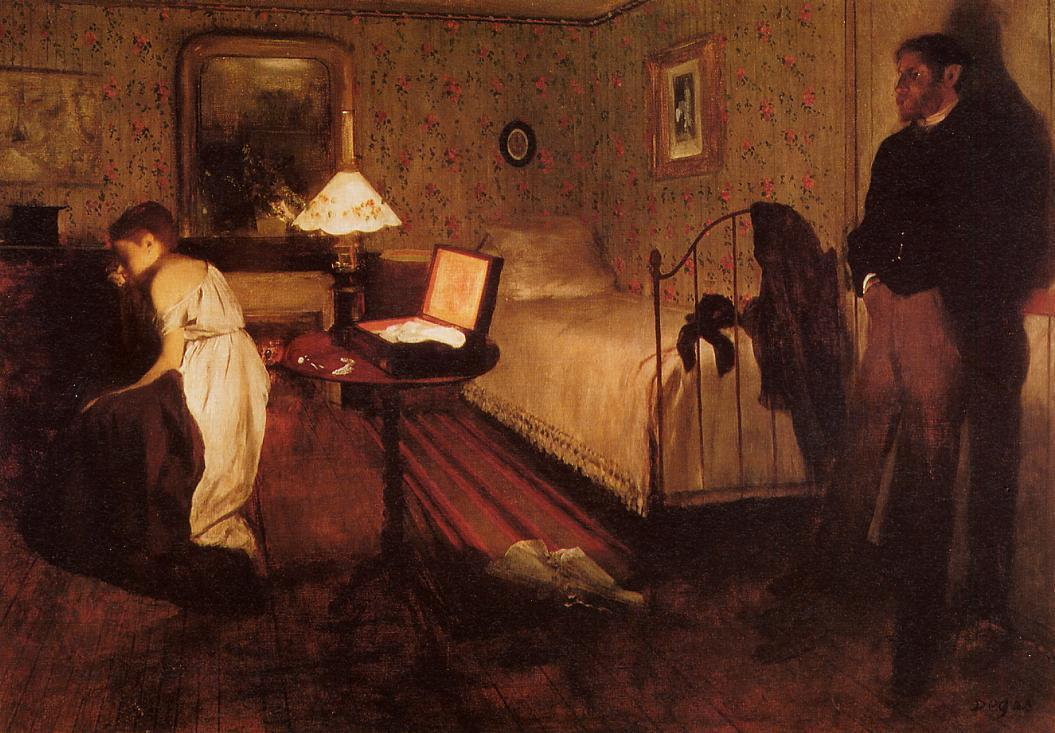 Interior (aka The Rape) 1868 | Edgar Degas | Oil Painting