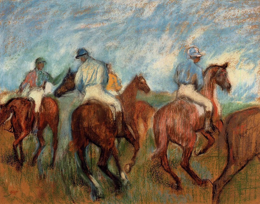 Jockeys 1885-1900 | Edgar Degas | Oil Painting