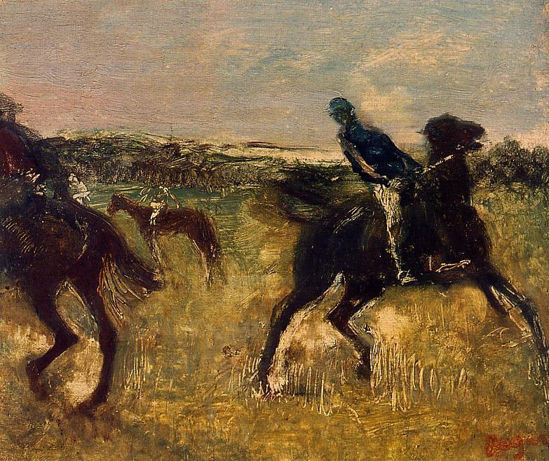 Jockeys 1895 | Edgar Degas | Oil Painting