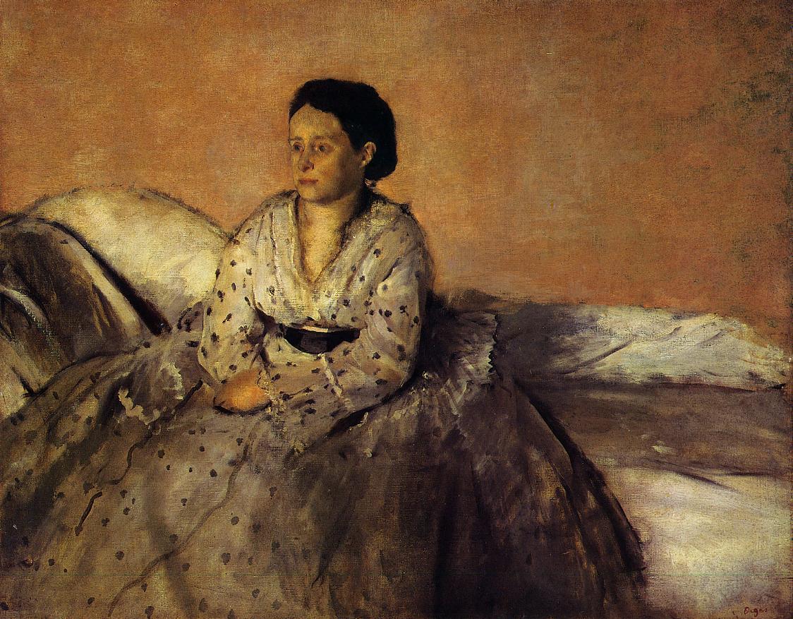 Madame Rene De Gas 1872-1873 | Edgar Degas | Oil Painting
