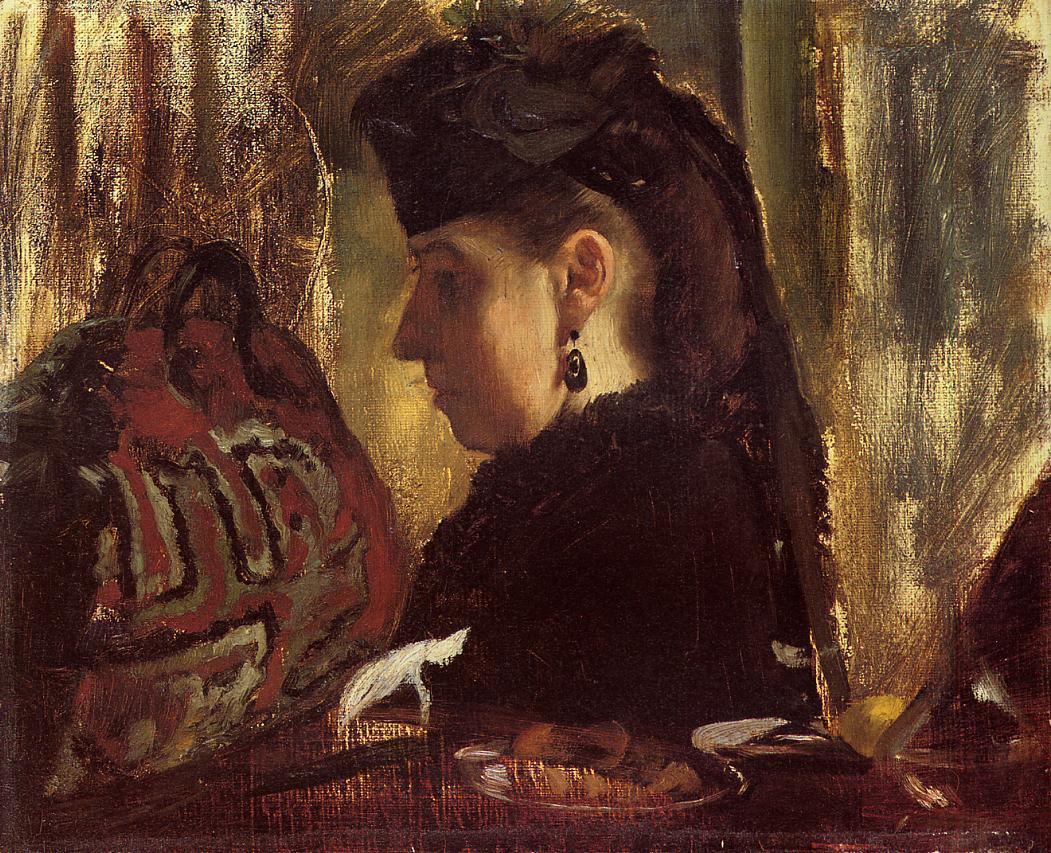 Mademoiselle Marie Dihau 1868 | Edgar Degas | Oil Painting