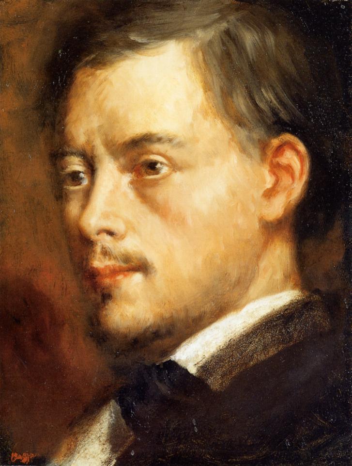 Mans Head 1864 | Edgar Degas | Oil Painting