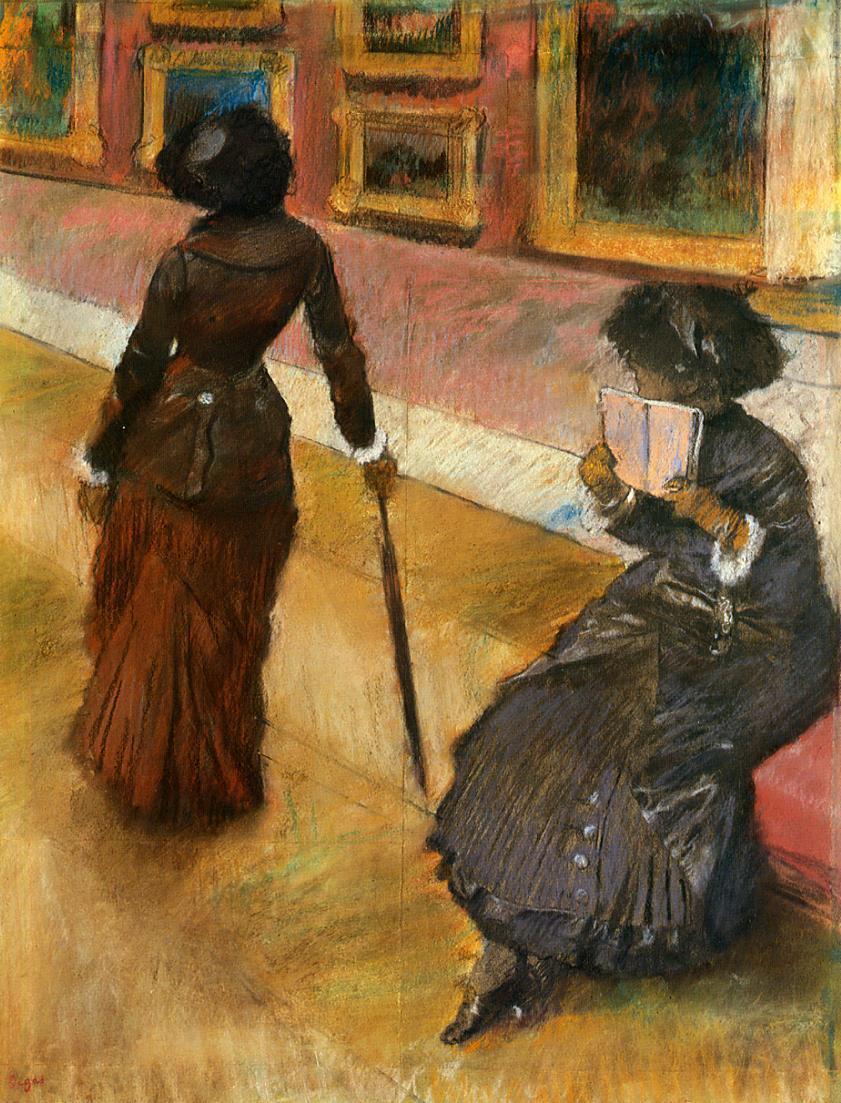Mary Cassatt2 at the Louvre 1880 | Edgar Degas | Oil Painting