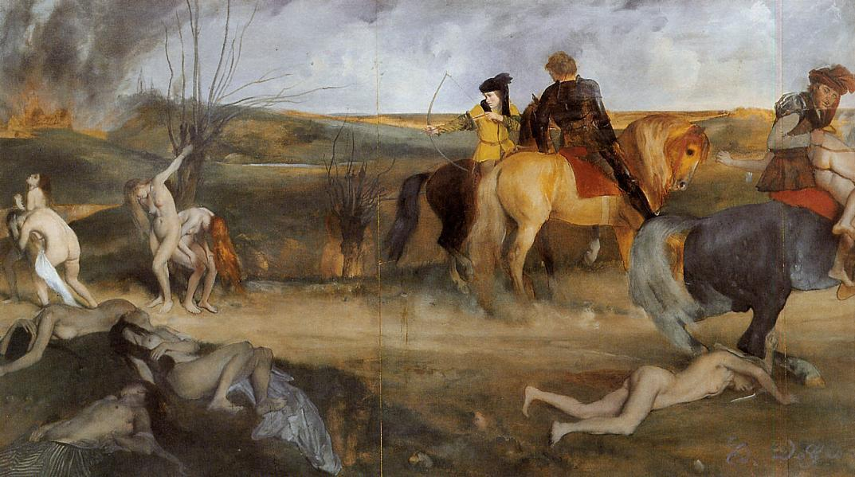 Midieval War Scene 1865 | Edgar Degas | Oil Painting