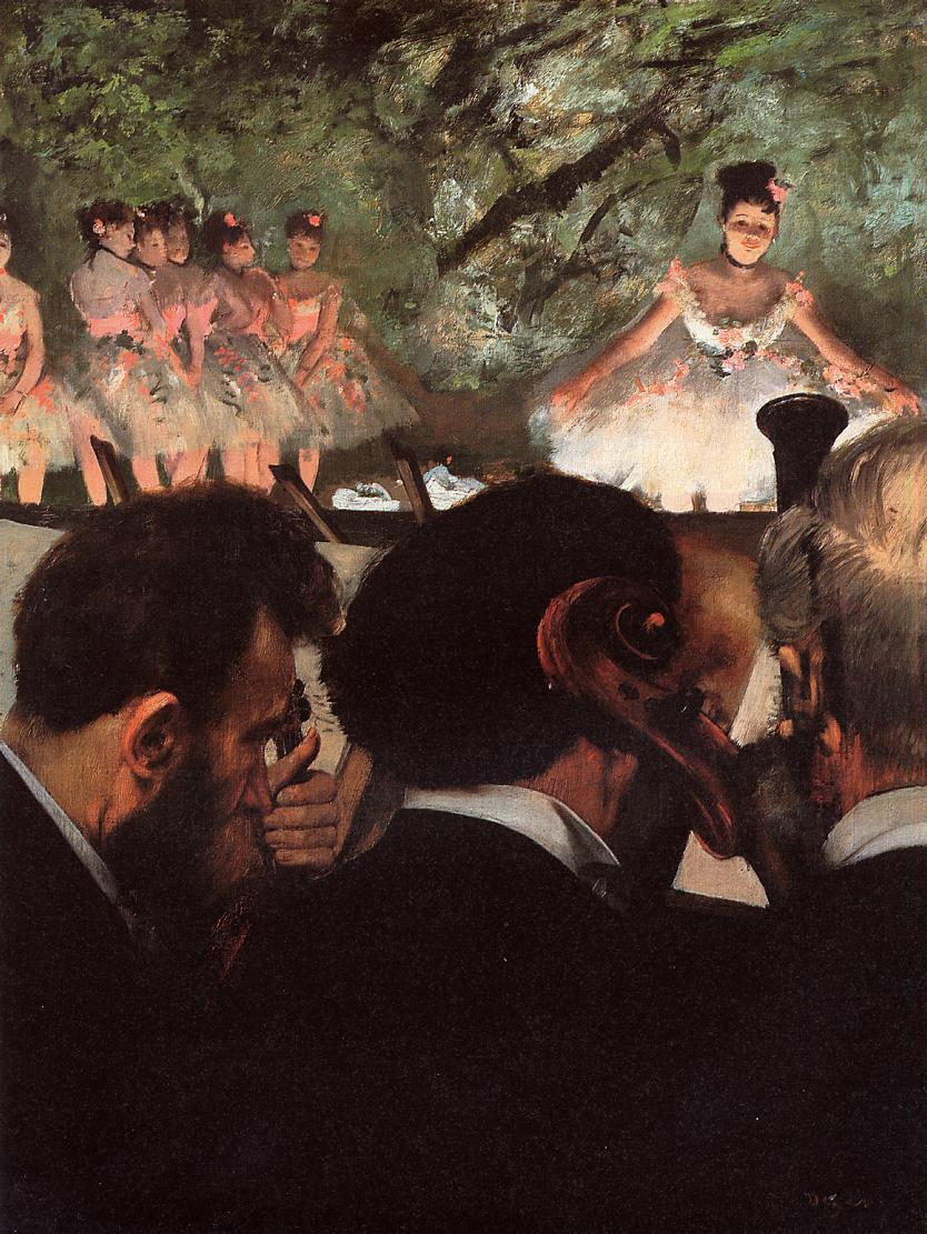 Musicians in the Orchestr 1872 | Edgar Degas | Oil Painting