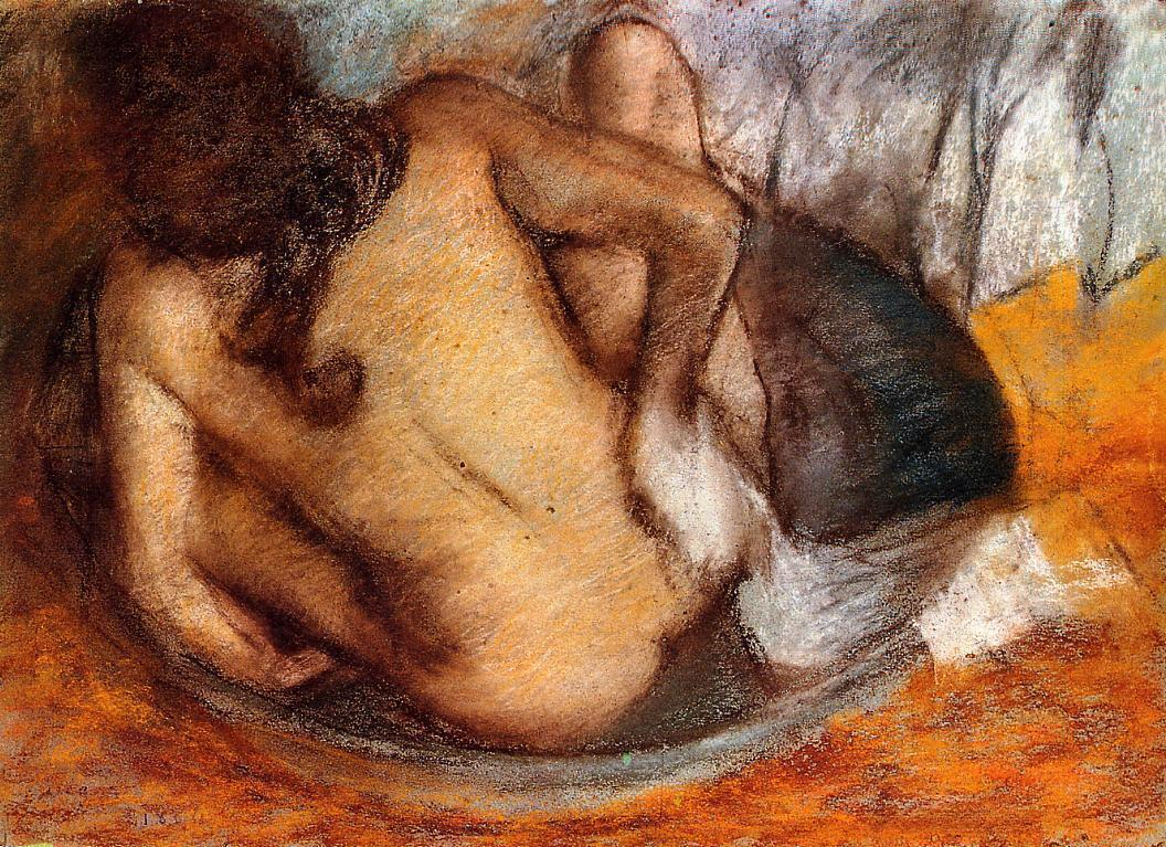 Nude in a Tub 1884 | Edgar Degas | Oil Painting