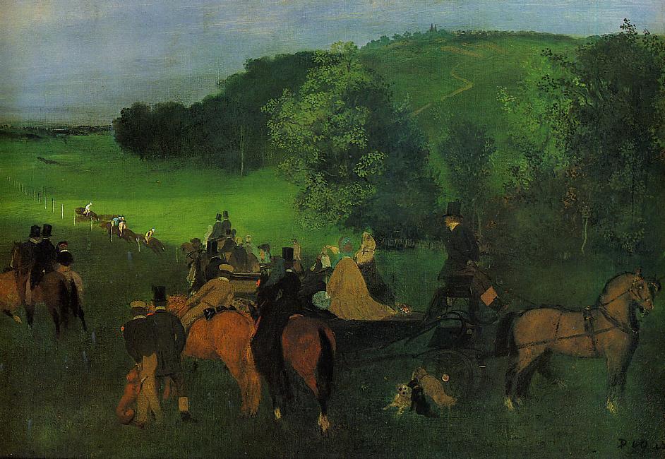 On the Racecourse 1860-1862 | Edgar Degas | Oil Painting