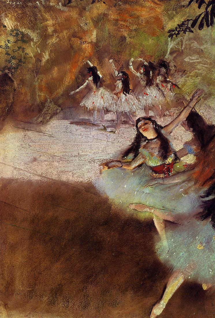 On the Stage 1880 | Edgar Degas | Oil Painting