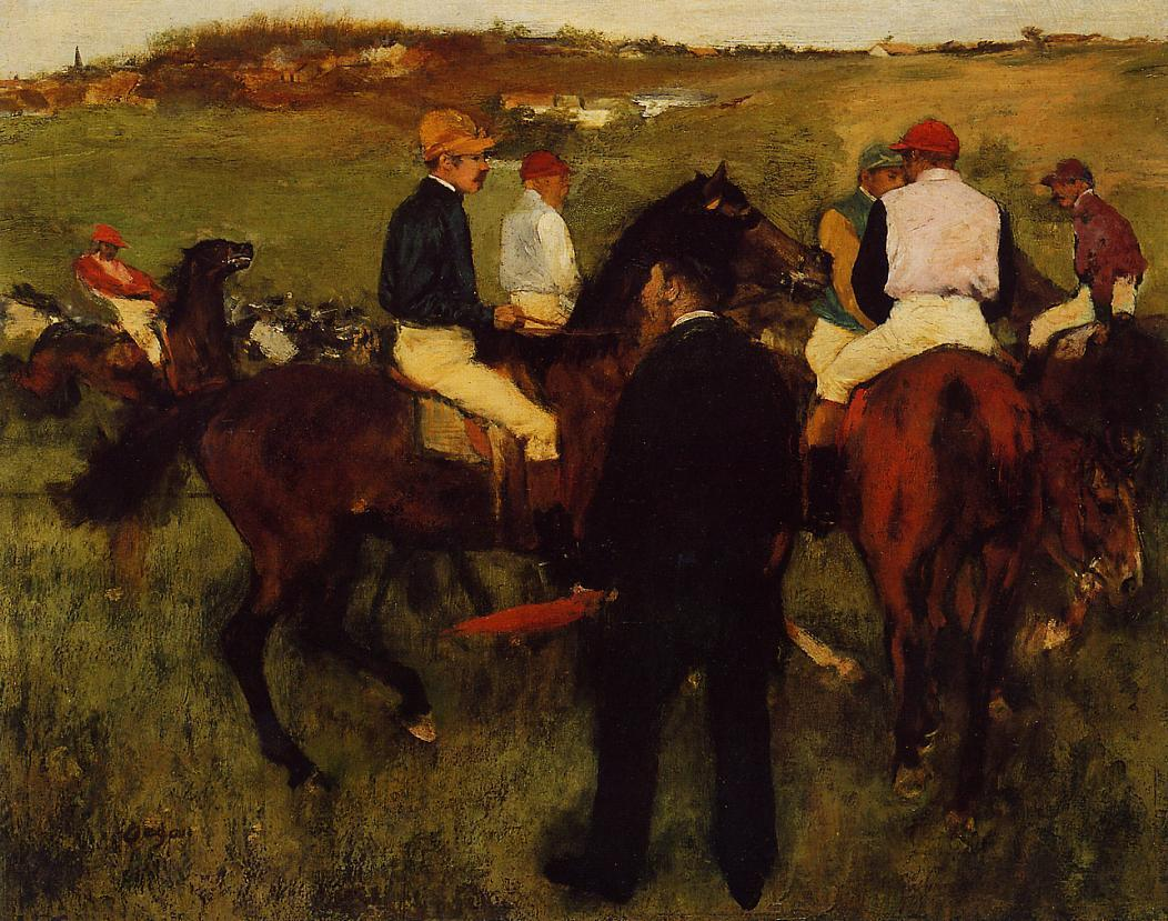 Out of the Paddock 1868-1872 | Edgar Degas | Oil Painting